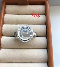 New sterling silver 925 ring size 81/2-9 781 km