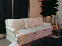 white fabric 3-seat sofa Regina, S4S 6A7