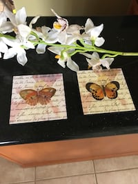 Lovely wooden butterfly plaques