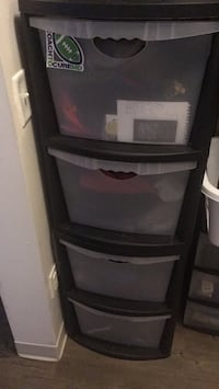 5 drawer plastic storage