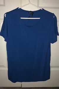 Casual blue shirt with open shoulders Newmarket, L3X