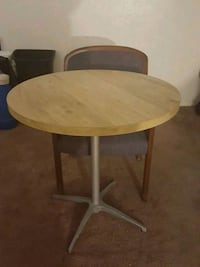 round brown wooden folding table Newport News, 23601