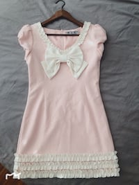 Pink wool dress party dress size S 伯纳比, V3N 1P7