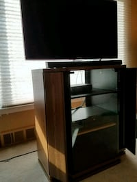 Wooden glass front cabinet Washington