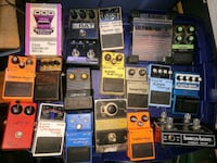 Guitar pedals and distortion boxes tuners etc Woodstock, 22664