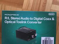 Converter (R/L Stereo Audio to Digital Coax&Optical Toslink Converter) Toronto, M3A 3A1