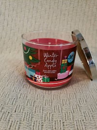 New, 3 wick Winter Candy Apple candle. Manassas, 20109