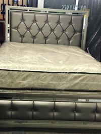 Queen bed with mattress new for $599