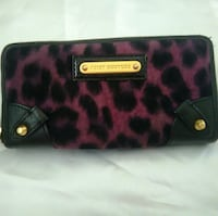pink and black leopard-print Juicy Couture purse