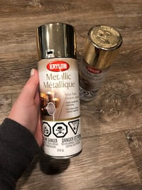 2 cans of gold spray paint