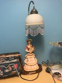 white and brown table lamp Loganville, 30052