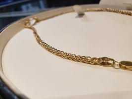 Gold Fox Tail Link Chain Necklace