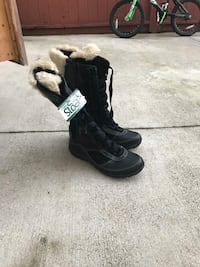 pair of black leather boots Kent, 98030