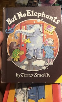But no elephants - hard cover - vintage 80's kids books