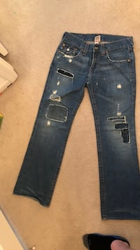 True religion jeans - designer Blue distressed jeans