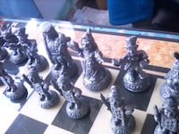Brass and pewter chess set from  england  Kansas City, 64130