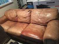 Brown leather sleeper sofa Gaithersburg, 20878