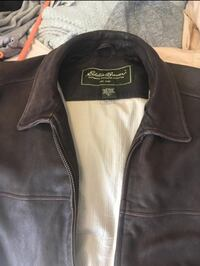 Genuine brown leather Eddie Bauer men's jacket. XL - Tall Vancouver, V6P 5A5