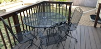 patio table and 4 chairs. Black metalCage Lakewood, 80228
