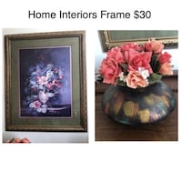 Home Interiors Wall Frame With Flower Pot