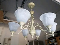 white and gray uplight chandelier Oakville, L6M 3W3