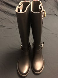 STEVE MADEN Pair of black stylish rain boots Toronto, M6H 3Y2