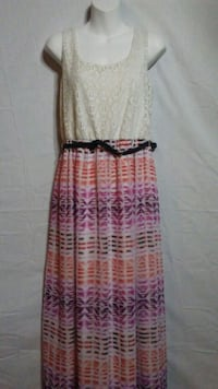 Women's beige and spaghetti strap dress Oklahoma City
