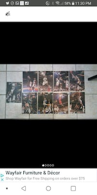9 laminated famous basketball Laval, H7M 4A2