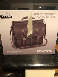 Brown leather 2-way bag, great for a business person, brand new.