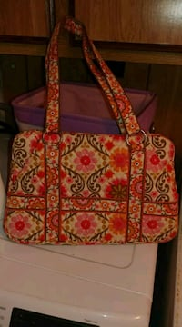 red and white floral tote bag 741 mi