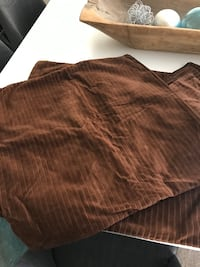 Three brown corduroy pillow covers, never used Henderson, 89074
