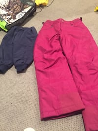 Size 2 Please Mum Navy snow pants worn a few times. $10, Girls size Medium MountainHard Wear snow pants racing pants. Fits somewhere around 10-12 or 12-14. They are brand new and were very expensive. Asking $30 Vaughan, L4J 5L7