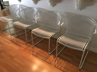 4 white metal chairs Casselberry, 32707