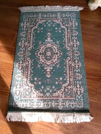 blue and white floral area rug