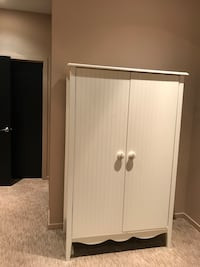 Full sized white armoire