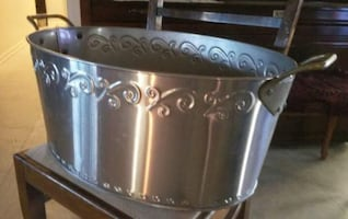 Silver Decorative Metal Bucket