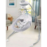 baby's white and gray cradle n swing Sacramento, 95822