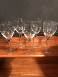 5 wine glasses $2.00 each Toronto, M8Z 5A2