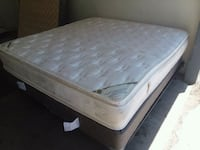 King Bed with Large Double Pillow Top Mattress Las Vegas, 89119
