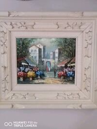 French scene/oil on canvas