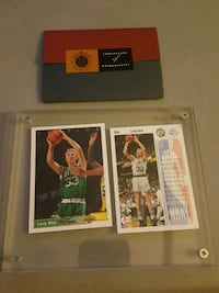 Larry bird autographed card with coa Jessup, 20794