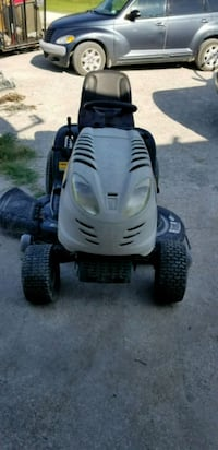 white and black ride on mower Greenville