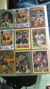 basketball and football trading cards collection
