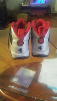 pair of white-and-red Jordansbasketball shoes Phoenix, 85041