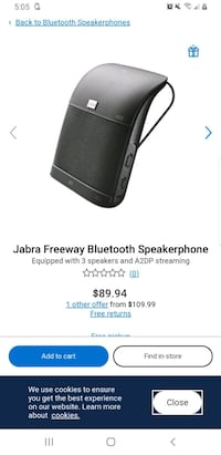 Jabra bluetooth hands free