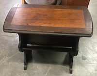 Two Tone Wood Side Table Accent Stand Salina
