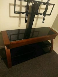 brown wooden TV stand with mount Nashville, 37115