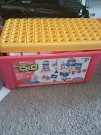 red and yellow plastic toy organizer Mississauga, L5M