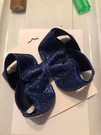 Glitter holiday hair bows many colors 4-5 inch  Pooler, 31322