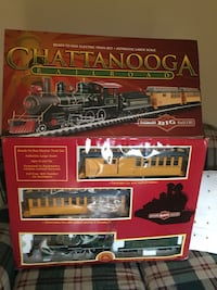 Red and black train toy set Fenton